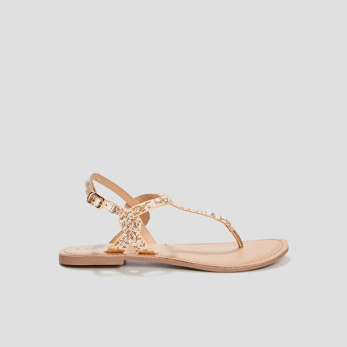 Sandales à perles Creeks femme couleur or