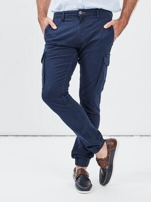 Pantalon straight Trappeur bleu marine homme