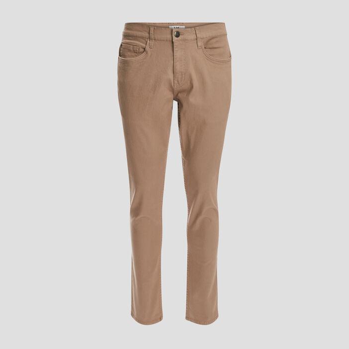 Pantalon slim homme beige