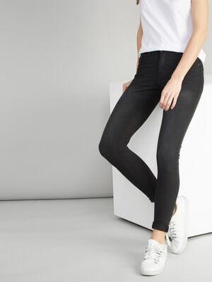 Jean skinny taille basse noir femme