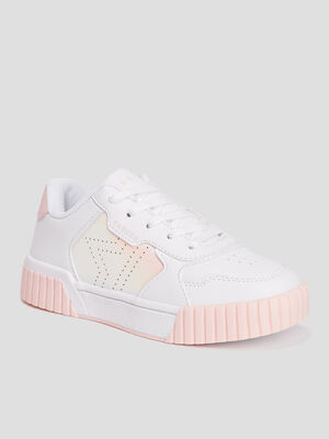 Tennis Creeks zippees a lacets blanc fille