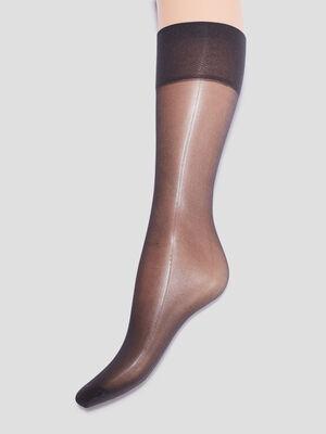 Lot 2 socquettes DIM noir femme