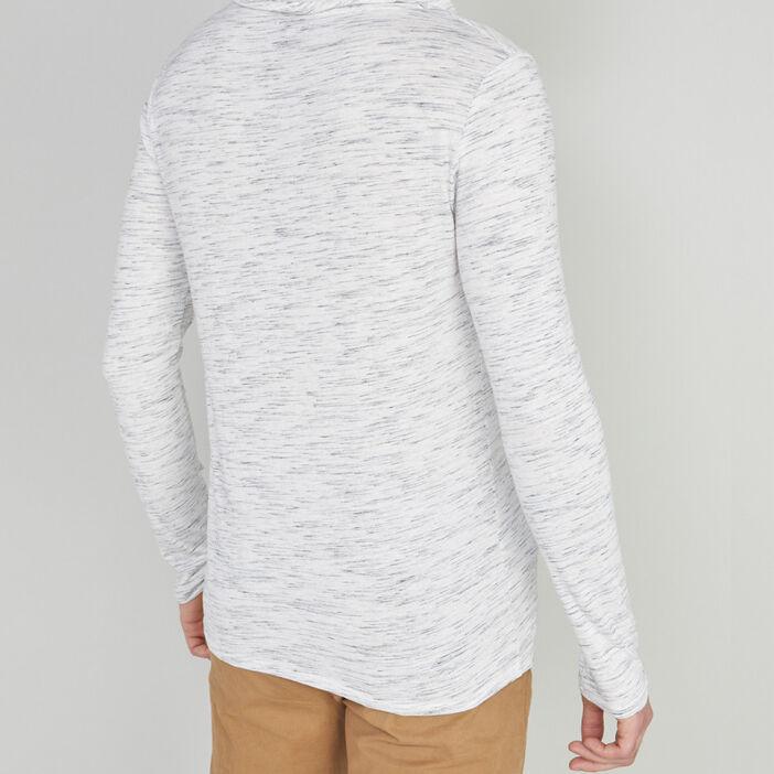 T-shirt manches longues homme ecru