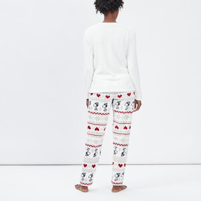 Ensemble de pyjama Snoopy femme ecru