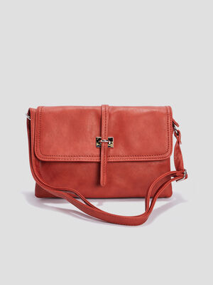 Sac besace a bandouliere orange femme