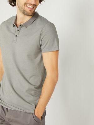 Polo manches courtes coton majoritaire gris fonc homme