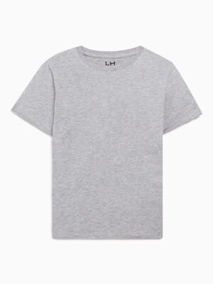 T shirt chine a manches courtes gris garcon