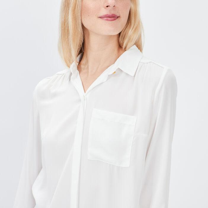 Chemise manches longues femme ecru