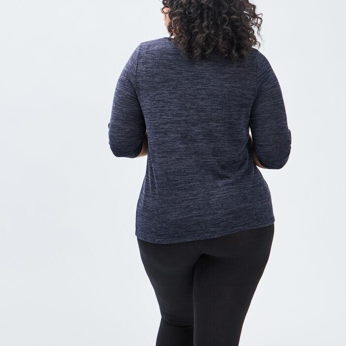 T-shirt femme grande taille bleu marine