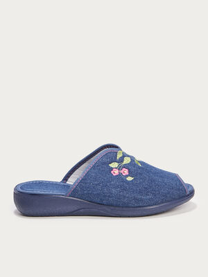 Chaussons mules denim used femme