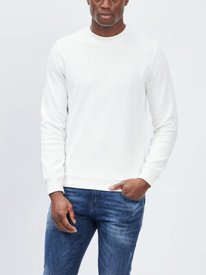 Sweat manches longues Creeks blanc homme