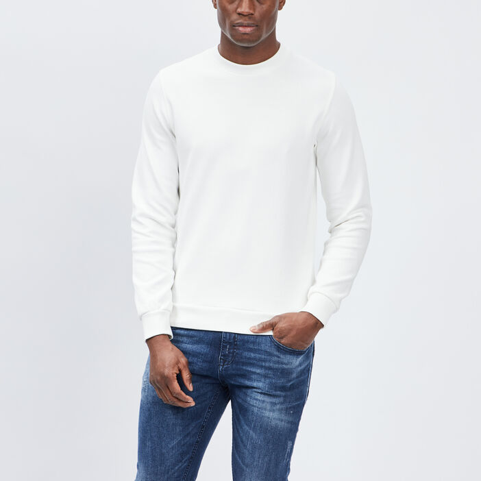Sweat manches longues Creeks homme blanc