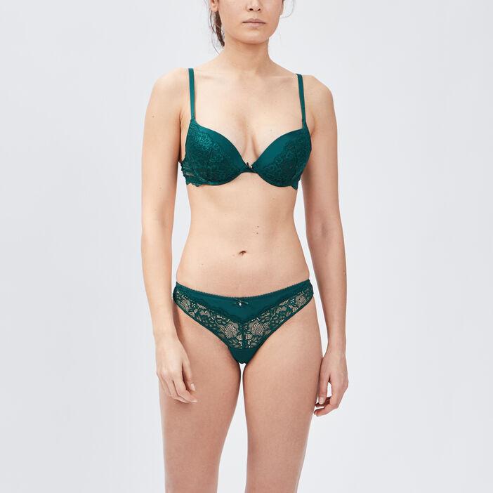 Soutien-gorge maxi push-up femme vert