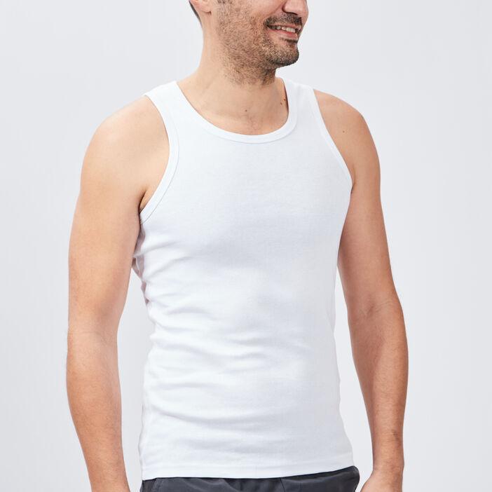 Débardeur bretelles larges homme blanc