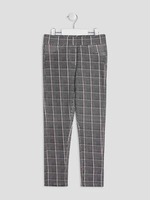 Pantalon droit elastique ecru fille