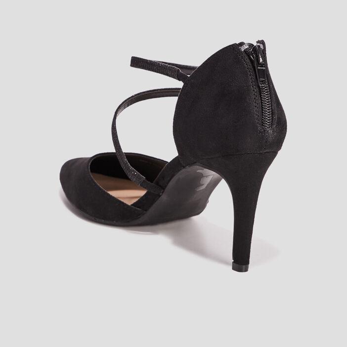 Escarpins zippés femme noir