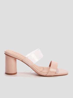 Mules a talons Mosquitos rose femme