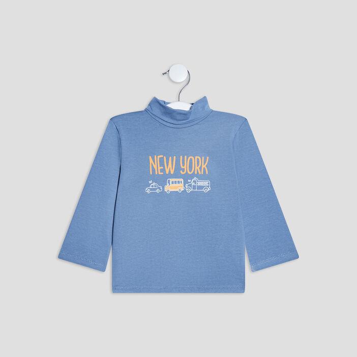 T-shirt Pat et Ripaton bébé garçon bleu