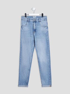 Jeans mom denim triple stone fille