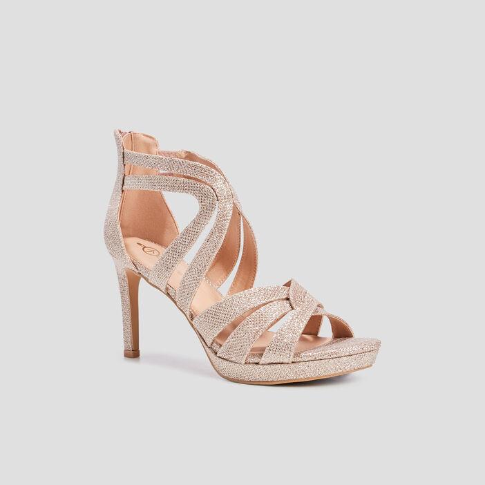 Sandales à talons aiguilles femme rose