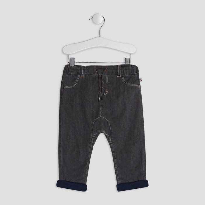 Jeans slouchy bébé garçon gris