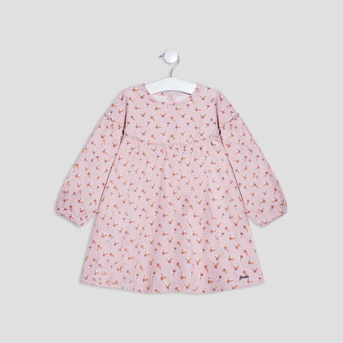 Robe courte évasée bébé fille vieux rose