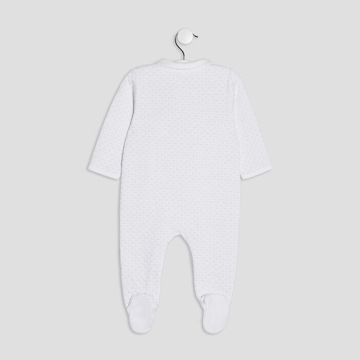 Dors-bien aspect matelassé bébé garçon blanc
