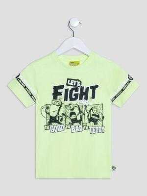 T shirt Les Minions jaune fluo garcon