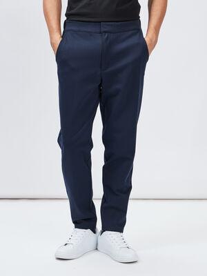 Pantalon droit noir homme