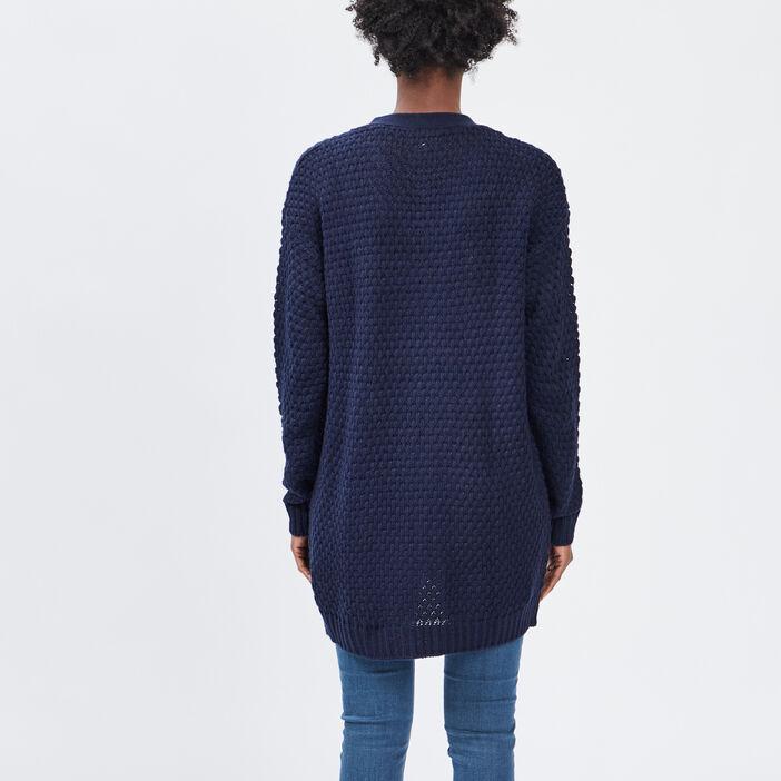 Gilet avec poches femme bleu marine