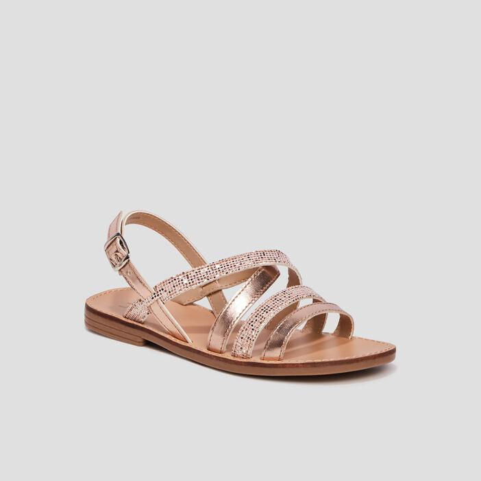 Sandales plates fille sable