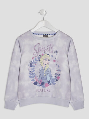 Sweat La Reine des Neiges parme fille