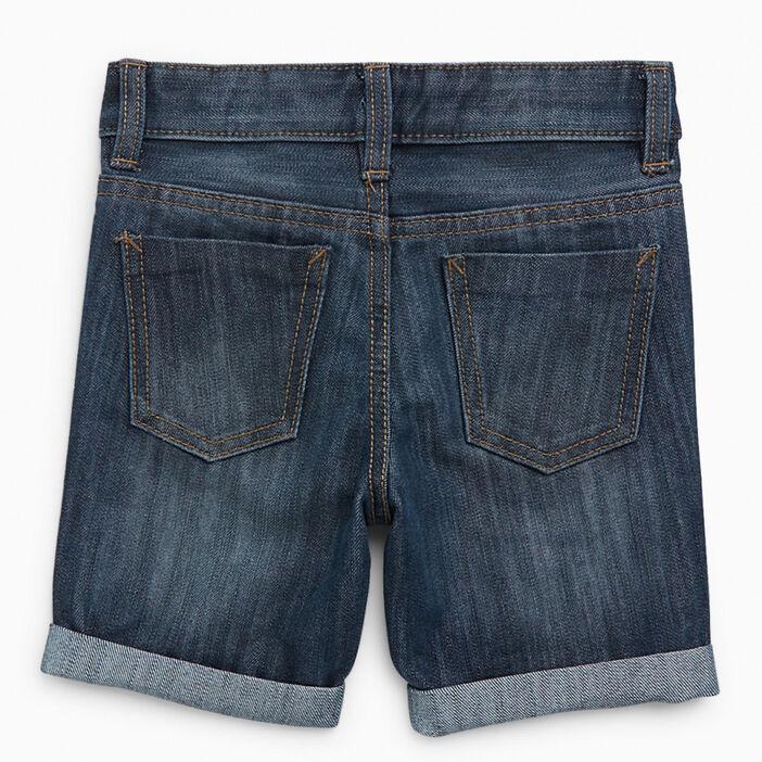 Short en jean avec revers garçon denim stone