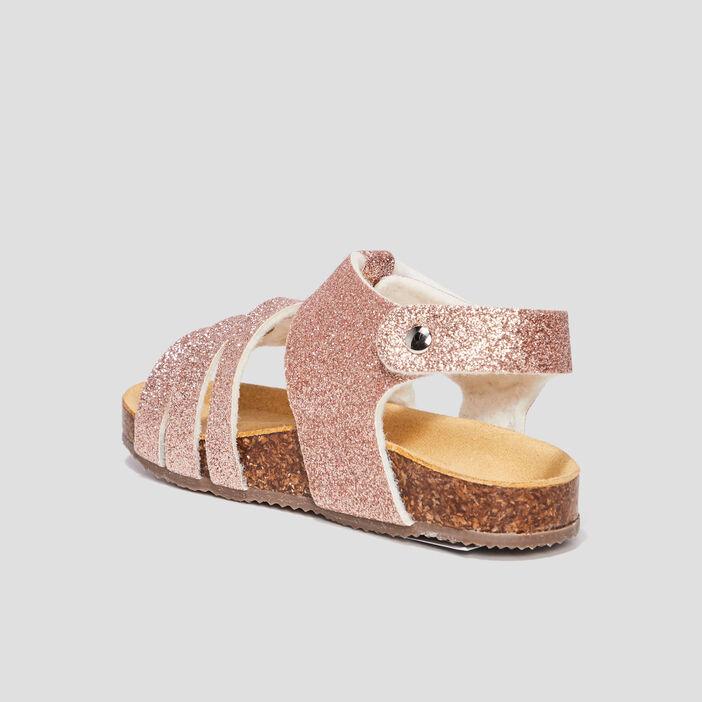 Sandales à paillettes bébé fille rose