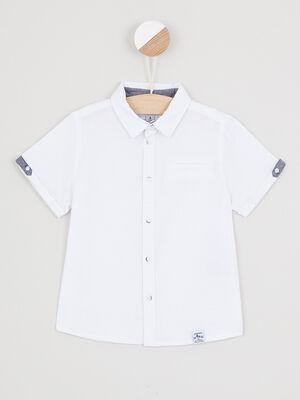 Chemise manches courtes blanc garcon