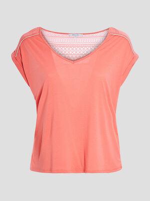 T shirt grande taille orange corail femmegt