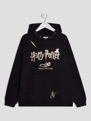 Sweat a capuche Harry Potter rose clair fille