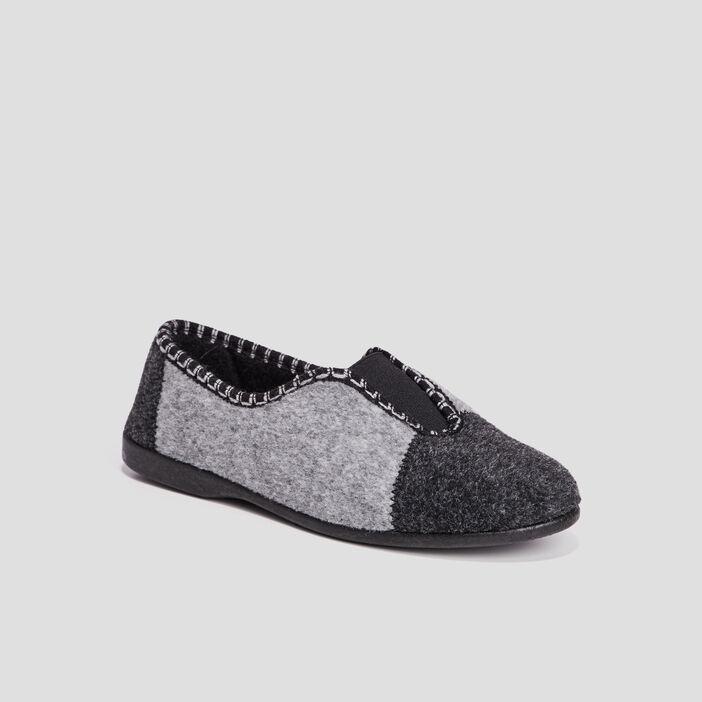 Chaussons femme gris