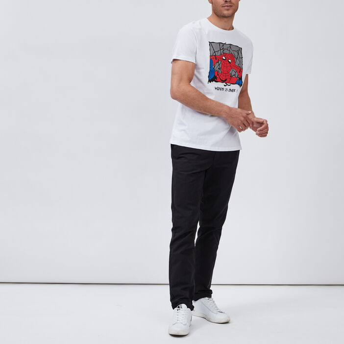 T-shirt Spider-Man homme blanc