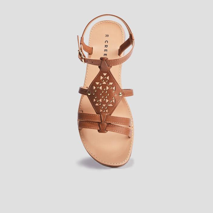 Sandales plates Creeks femme marron