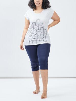Ensemble pyjama grande taille gris femmegt