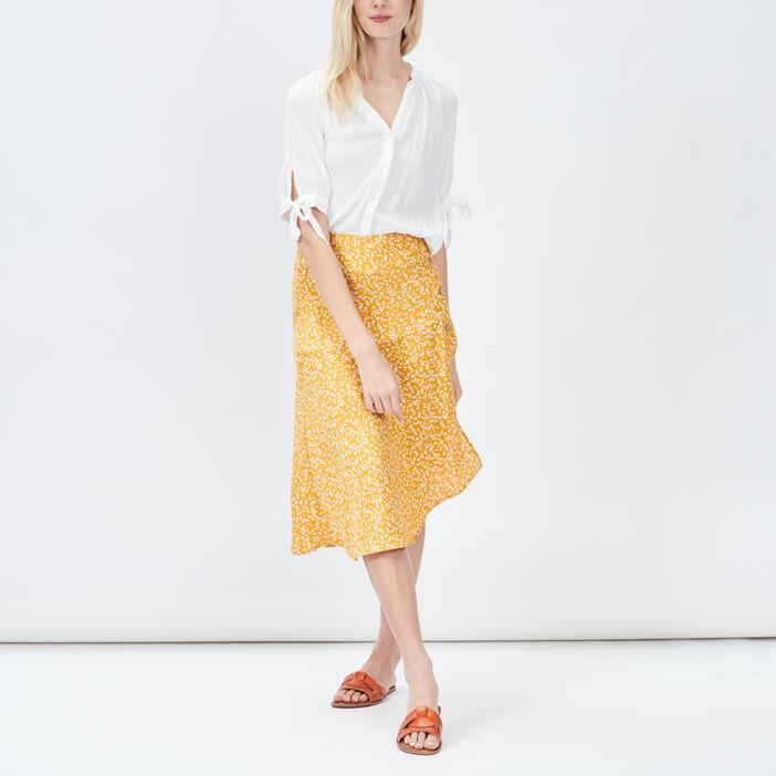 Chemise manches courtes femme blanc