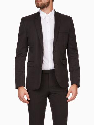 Veste blazer unie avec poches noir homme