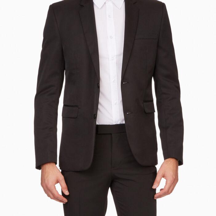 Veste blazer unie avec poches homme noir
