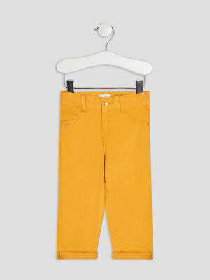 Pantalon droit jaune bebeg