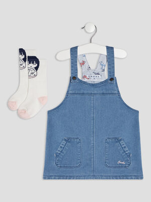 Ensemble 2 pieces Creeks denim stone bebef