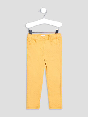 Pantalon jegging jaune moutarde bebef
