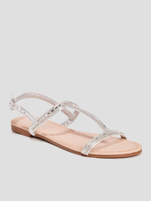 Sandales Mosquitos couleur argent femme