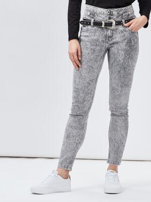 Jeans slim Mosquitos gris clair femme