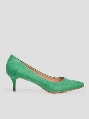 Escarpins a bouts pointus vert femme